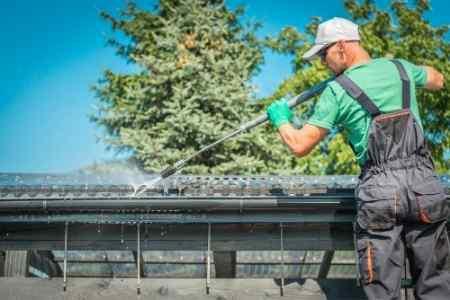 power washing gutters